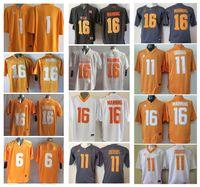 Wholesale Peyton Manning Jersey Xxl - 16 Peyton Manning 11 Joshua Dobbs 1 Jalen Hurd Mens College Tennessee Volunteers Men Jersey Football Jerseys