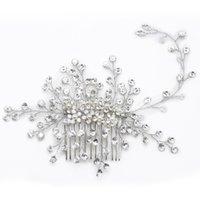 Wholesale Hair Ornaments For Women - Ornaments Fashion Crystal Hair Wear Wedding Headdress Retro Bridal Headdress Wreath Rhinestones Headband Crown Jewelry for women