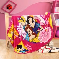Wholesale Cartoon Coral Fleece Blankets Snow White Princess Bedding Sofa Air Condition Bedspreads Airline Rug Kids Bath Towel Nap Blanket