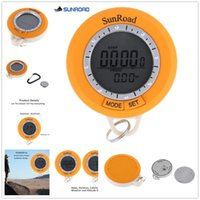 Wholesale Handheld Altimeter - Wholesale- 2016 Newest Smart Thermometer SUNROAD SR108S Handheld Digital Pedometer Barometer Thermometer Altimeter Compass Weather Forecast