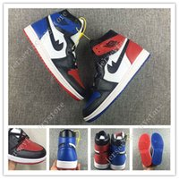 Chaussures De Melo Bon Marché Pas Cher-Cheap Retro 1 High OG Top 3 Shattered Backboard Melo Black Toe Chaussures de basket-ball pour homme Royal Blue Gym Red Thunder Retros 1s Sneakers Eur40-47