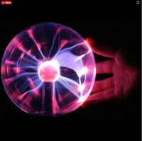 Magic Plasma Ball Retro Light 3-дюймовый детский рождественский вечер Cristal Gift Room Light Light Lava Lamp Box Lightning Lamp