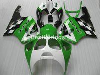 ingrosso kit corporeo per zx7r-Kit carene completo in ABS per Kawasaki Ninja ZX7R Set carene verde bianco nero 1996-2003 ZX7R 96-03 TY62