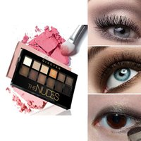 Wholesale 12 Colors Pallete - Wholesale- Cosmetic Matte Eye Shadow 12 Colors Make Up Set Nudes Naked Pallete Maquiagem Sombra Eyeshadow Beauty