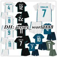 Wholesale Ronaldo Kids Jersey - 17 18 kids Real madrid Home away 3RD soccer Jersey Kits RONALDO ASENSIO MODRIC BALE RAMOS ISCO NAVAS KROOS BENZEMA child Football Shirts