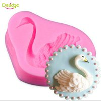 Купить Лебединая Форма-Delidge 20PC Little Swan Cake Mold Силиконовая форма лебедя Fondant Mold DIY Baking Weinging Cake Decoration Sugarcraft Molds