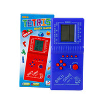 Wholesale Electronic Brick Game - Hot Sale New Tetris Game Hand Held LCD Electronic Game Toys Brick Classic Games Free Shipping WD051