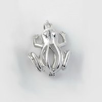 Wholesale Frog Accessories - 18kgp Frog Pendant Fittings, Animal Style Pearl Gem Bead Locket Cages, DIY Jewelry Making Accessories