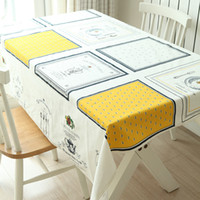 Wholesale Morden Fashion - High quality morden Fashion White Table Cloth with Lace Cotton Print Europe Style Rectangular Dinning Tablecloths Cover Home Decor