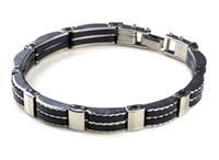 Wholesale Men Bracelet Korea - Stainless steel bracelet Spot, Japan and South Korea authentic silicone men bracelets bracelets bracelets wholesale fashion personality