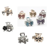 Wholesale Hair Jewelry Claw Clips - 10pcs lot Crystal Rhinestone Fashion Small Hair Claw Clip Hair Grip Clamp Hot Hair Jewelry