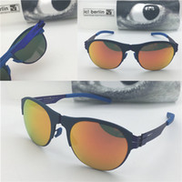 Wholesale removable memory - Germany designer men brand sunglasses IC 67 NixenstraBe ultra-light without screw memory alloy glasses removable stainless steel metal frame