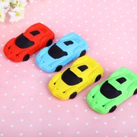 Wholesale Car Shaped Erasers - Super cute 3D car shape rubber eraser funny cartoon children student girl body gift toy stationery wholesale