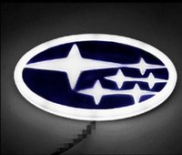Wholesale Subaru Xv - 4D logo LED light with car decorative lights lamp Car Sticker badge for Forester XV Legacy Impreza Outback free shipping