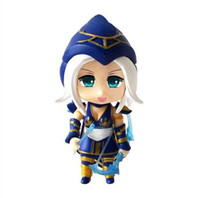 Wholesale Lol Figures Ashe - Nendoroid 901# Game anime figure LOL Games Snow Pea skin ashe ADC PVC Action Figure Collection Model Toy 10cm 4''
