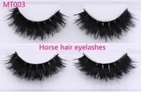ingrosso estensioni dei cavalli-Ciglia finte mt003 Horse Hair 100% fatte a mano con un'estensione dell'occhio lungo e spessa di alta qualità per il trucco