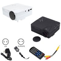 Wholesale Dvd Home Cinema - Wholesale- HD Home Theater Cinema H80 LCD Image System 80 Lumens Mini LED Projector with AV VGA SD USB HDMI for DVD PC CX88
