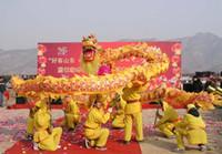 traje de dragão amarelo venda por atacado-Tamanho 4 # 6 m-26 m seda frabic dragão dança 6 m-26 m adulto traje da mascote desfile ao ar livre jogo de viver loja de casa decoração cultura festa de férias
