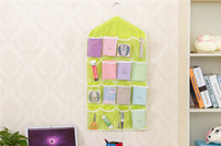 Creative Happy Gifts Ménage Supports de stockage 16 poches Clear Hanging Bag Socks Soutien-gorge Sous-vêtements Rack Hanger Storage