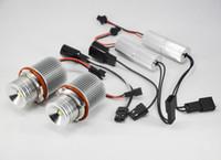 audi a4 xenon lights h7 achat en gros de-DHL 5 paires 10W CREE 1LED * 10W Kit yeux pour marqueurs ange Lampe sans halo Canbus sans erreur, blanc, xénon POUR BMW E39 E53 E60 E61 E64 E65 E66 E66 E87