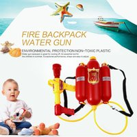 HOT Sale Kids Cute Outdoor Super Soaker Blaster Fire Рюкзак Дайвинг Squirt Pool Toy Дети Летний пляж Gaming Water Gun