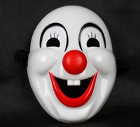 Wholesale Wholesale Adult Clown Masks - Classics Red Nose Clown Mask Jolly Mask Jester Mask for Party Halloween