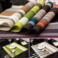 Atacado 1Pcs PVC impermeável Placemats Insulation Mat Table Coasters Kitchen Dining Table