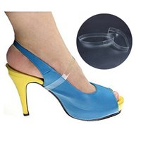 Wholesale Women Straps Ons - 1000Pcs Lot Clear Invisible High Heel Shoe Straps Mules Slips-Ons Transparent Women Insoles for Dancing High Heels Mules