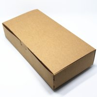 Wholesale Tart Packaging Box - Wholesale- 24*12*4.5cm 15Pcs  Lot Rectangle Kraft Paper Boxes For Candy Egg Tart Party Gift Soap Candle Pack Brown Craft Paper Package Box