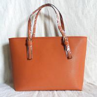 deri moda gündelik çanta toptan satış-Drop shipping 16 renkler En kaliteli moda ünlü marka kadınlar casual tote çanta seyahat jet seti PU deri çanta