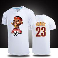 Wholesale Lebron T Shirts - T Shirt Men Short Sleeve New Fashion 2016 Brand #23 Lebron James T Shirt Casual Basketball Tops Tees Man Clothing Cotton Tshirts