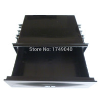 Wholesale Din Box - Wholesale- Car audio conversion Single Din Dash Radio Installation Pocket Kit Black Storage Box CX-38 Tray CD DVD Holder Drawer Universal