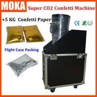 Wholesale Fx Gold - Flycase packing Super CO2 confetti machine FX jet Co2 Gas Confetti streamer machine +5kg gold silver color confetti paper