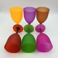 Wholesale Plastic Cocktail Glasses Wholesale - Beach Glass Plastic Wine Goblet Beverage Cocktail Wine Cup Bar Parties Club Decorative Drinkware Bar Tools