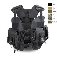 Wholesale Plated Armor - Outdoor Sports Outdoor Camouflage Body Armor Combat Assault Waistcoat Tactical Molle Vest Plate Carrier Vest NO06-008