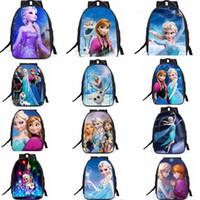 Wholesale Wholesale Character Backpacks For Kids - 13 Designs Frozen Backpacks School Bag Cartoon Printed Schoolbag Laptop Bag Cartoon Movie Bag for Adult And Kids Gift CCA6763 20pcs