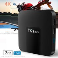Wholesale Mini Usb 2gb - iptv android 7.1 ott tv box tx3 mini amlogic s905w quad core KD17.3 fully loaded 1GB 2GB 16GB 4k streaming media player