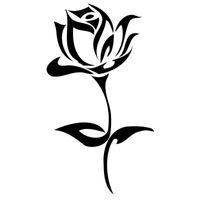modelagem de arte venda por atacado-9.8 * 17.7 cm 10 Cores Planta Art Hibiscus Natural Bela Flor Adesivos de Carro de Vinil Do Carro Acessórios Decorativos JDM