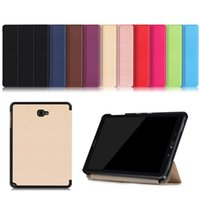Wholesale Galaxy S Flip Cover - Tablet Case Cover For Samsung Galaxy Tab A A6 10.1 S-Pen versions P580 P585 Case Flip PU Stand WIth Ultrathin support covers