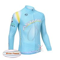 Wholesale Cheap Long Sleeve Thermal Men - ASTANA Pro Thermal Cycling Jersey men ropa ciclismo Long Sleeve Winter Fleece Ciclismo MTB bicycle clothing China Cheap D0523