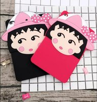 Wholesale Girls Ipad Covers - Girl Japan Child cartoon 3D Cover Soft Silicone Case mini 4 7.9 For ipad air 3 2 1 pro 9.7 2017