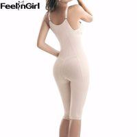 Wholesale Ladies Nylons Body - Wholesale- Hot shapers waist trainer corsets nylon lady body shaper waist cincher bodysuit women Slimming Underwear shapewear butt lifter-B