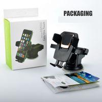 bardaklık emme aparatı toptan satış-Evrensel 360 Derece Kolay Tek Dokunuşla Araba Montaj iphone X MAX Handfree Akıllı Cep Telefonu Tutucu Vantuz Cradle Paketi ile Tutucular Standı