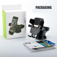 car cradles großhandel-Universal 360 Grad Easy One Touch Autohalterung für iPhone X MAX Handfree Smart Handyhalter Saugnapf Cradle Stand Inhaber mit Paket