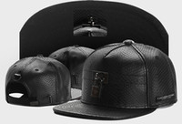 Wholesale Nets Snapbacks - 2016 new brand mens womens snapbacks baseball caps black net leather and lock fashion sport hip hop street sun hats good quality cheap