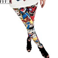 Wholesale Leggins Cute - Wholesale- Hot Sale 2017 Women Leggings Super Girl Cute Comic Book Printed Leggings Spring Summer Fashion Casual Calzas Mujer Leggins