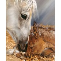 Wholesale Horse Cloth - 100% Full Drill Diamond Painting Horse 5D Diamond Mosaic Rhinestone Cross Stitch Embroidery Home Decor Handmade(Free Shipping)