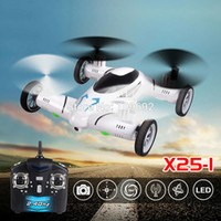 Wholesale Control Universal Sky - SY X25 2.4G 8CH 6 Axis Gyro 2.0MP HD Camera UFO Land Sky Universal RC Quadcopter with LED Light Hover Function Speed Switch Drones +B