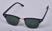 Wholesale Excellent Quality New Fashion Sunglasses For Man Woman Designers Black Frames Crystal Green Lenses Outdoor Cycling Ray Glasses