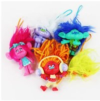 Wholesale ems shipping figure resale online - EMS cm Movie Trolls Poppy Pendant PVC Action Figure Collectable Model Toy A080